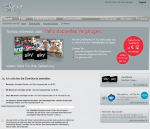 sky+-Festplattenreceiver + Zweitkarte für 149€