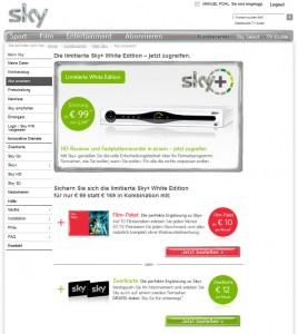 sky+-Festplattenreceiver + Zweitkarte für 99€