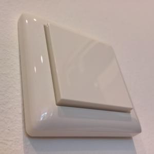 Bild von einer Gira-Wippe auf einem HomeMatic-Unterputzschalter (HM-LC-Sw1PBU-FM)